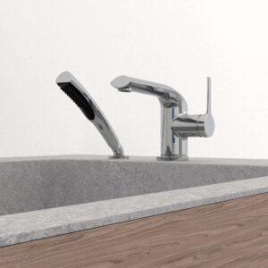 PRoduit NOB42CP, robinet de bain Nobua avec bain en pierre