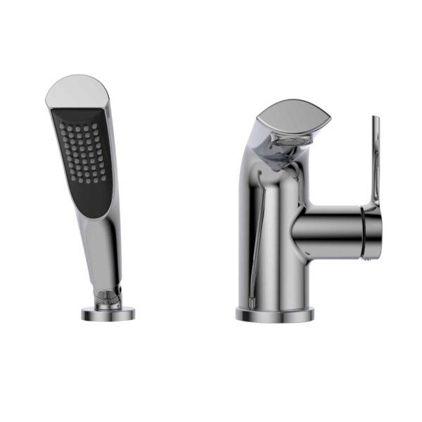 NOB42CP - robinet de baignoire sur fond blanc - front