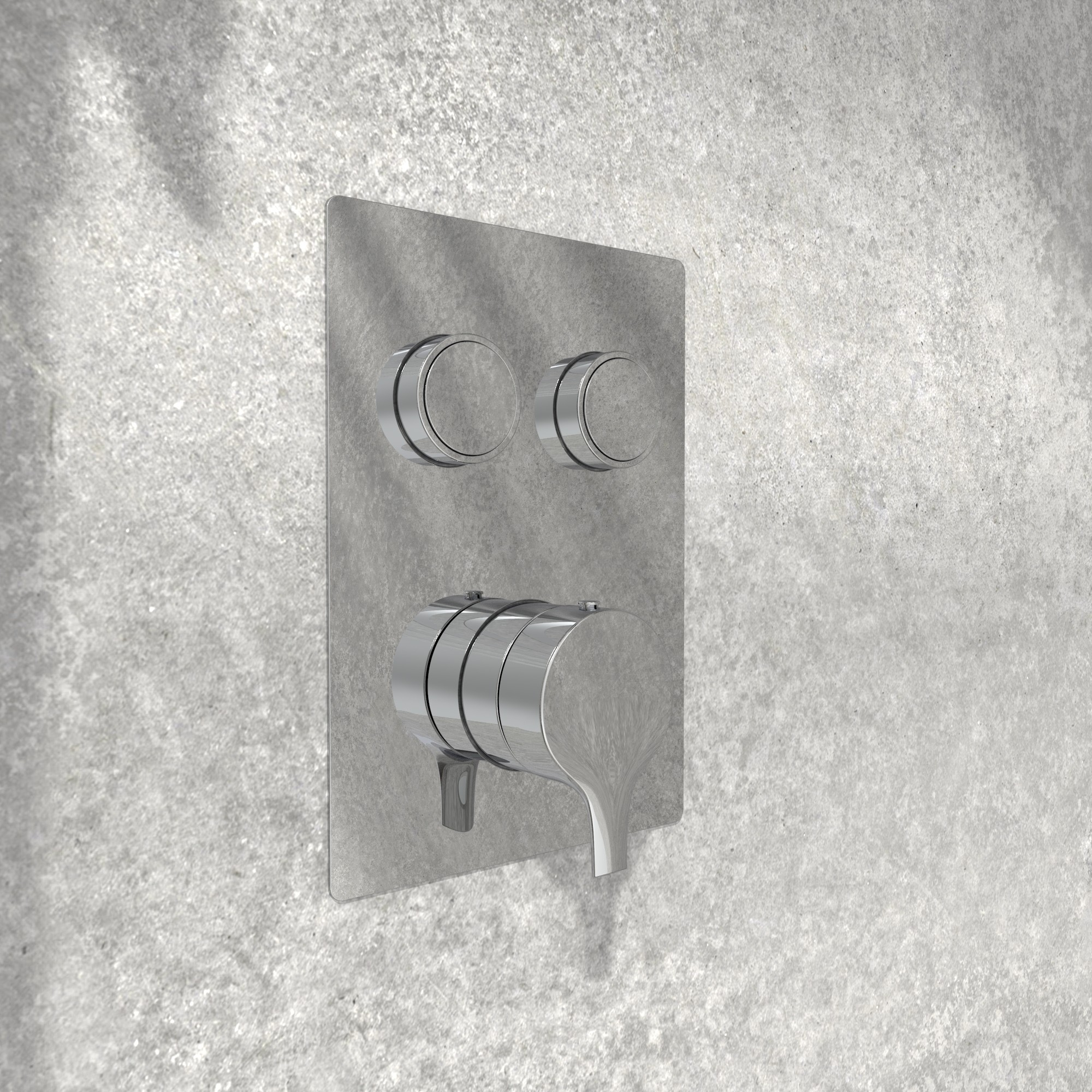 NOB98TS2DBTCP valve de robinet, garniture, sur mur de pierre