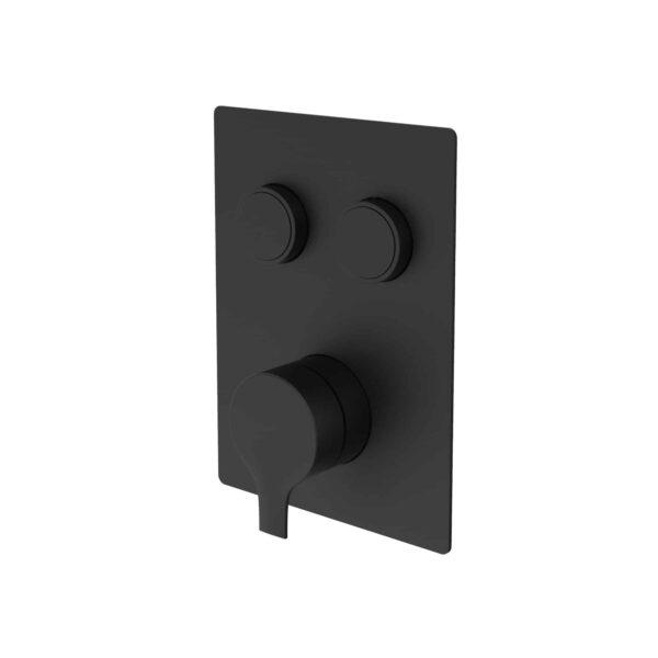 NOB98TS2DBTMB valve de robinet de douche noir mat sur fond blanc